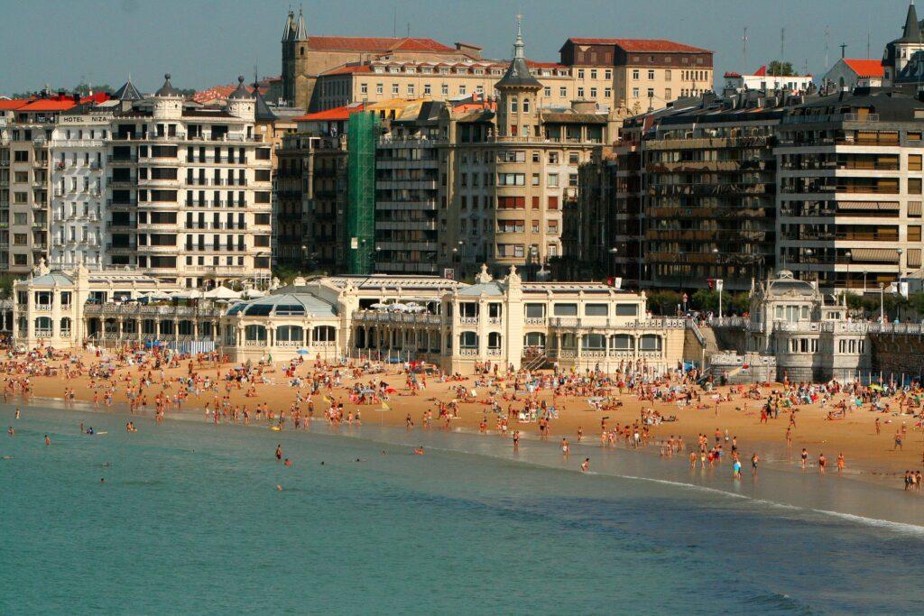 San Sebastian strand la conchina - spanske byer - alt om spanien