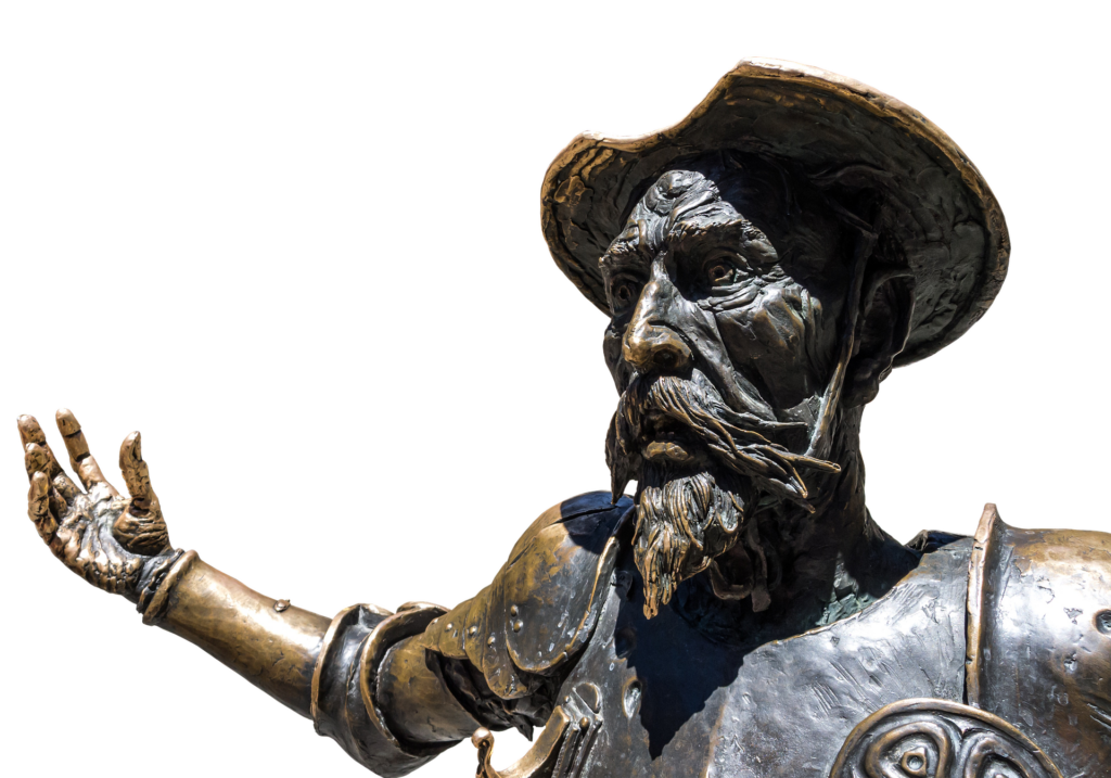 Don Quijote statue i la mancha | Alt om Spanien